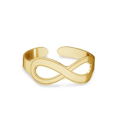 Srebrny pierścionek na początek palca znak nieskończoności, srebro 925