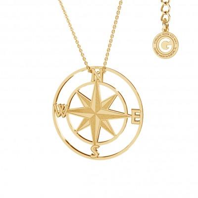 Naszyjnik kompas, srebro 925