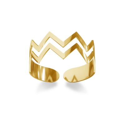 Knuckle ring with a zigzag, sterling silver 925