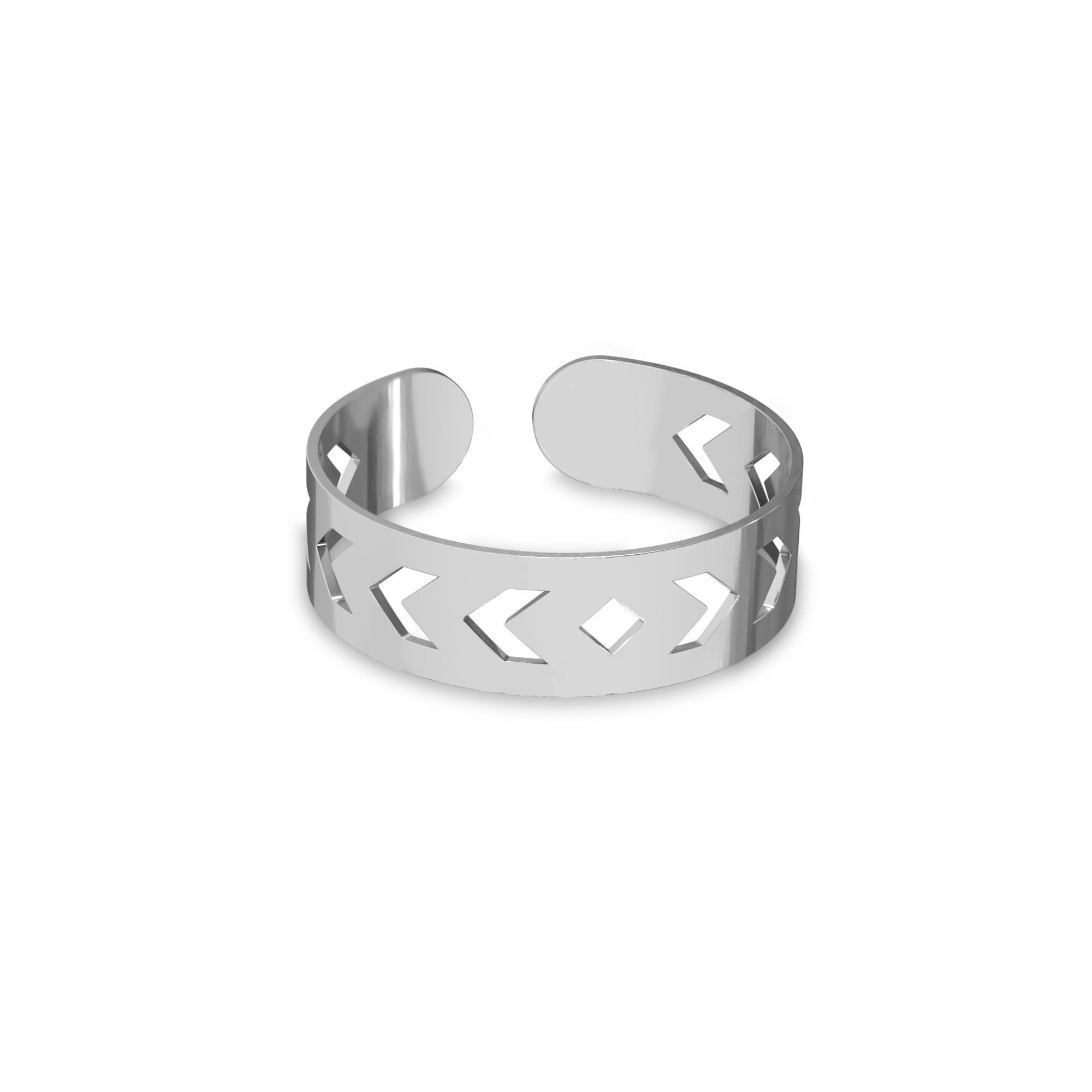 Srebrny pierścionek na początek palca strzałki, srebro 925