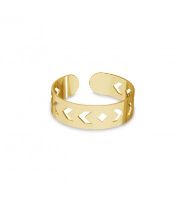 Knuckle ring with arrows, sterling silver 925