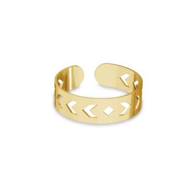 Knöchelring ring mit Pfeilen, silber 925