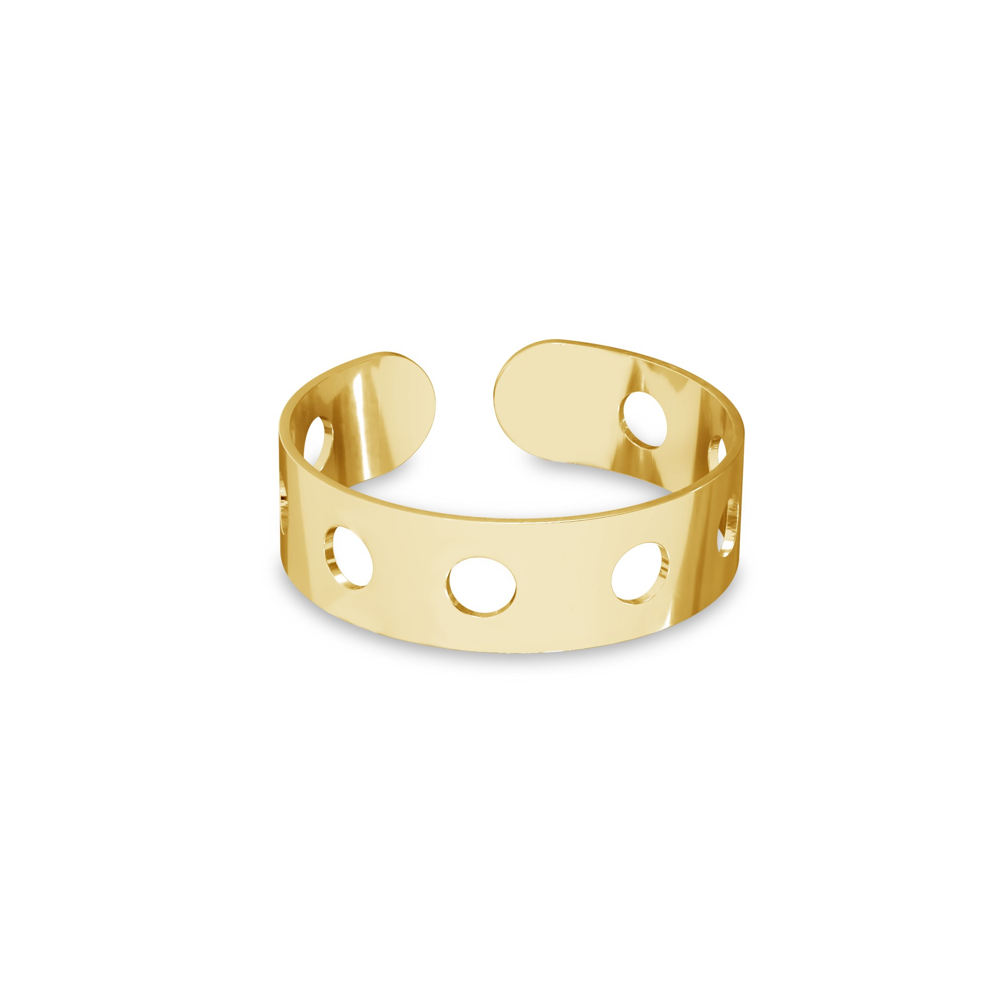 Knuckle ring with wheels, sterling silver 925