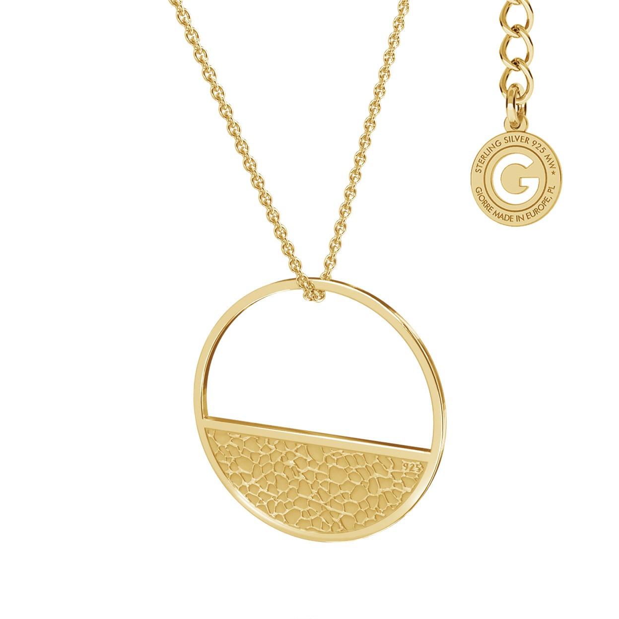 Naszyjnik figura geometryczna koło, srebro 925