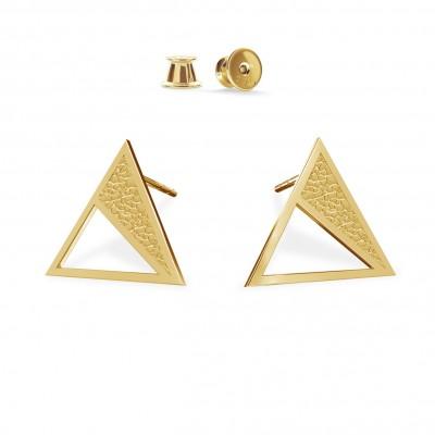 Round geometric earrings, sterling silver 925