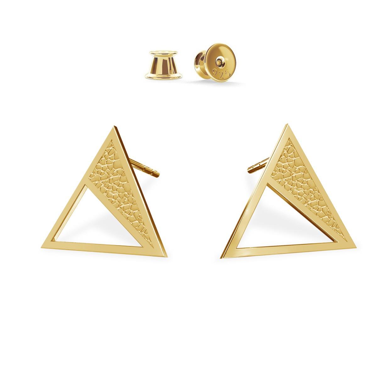 Kolczyki geometryczne trójkąty, srebro 925