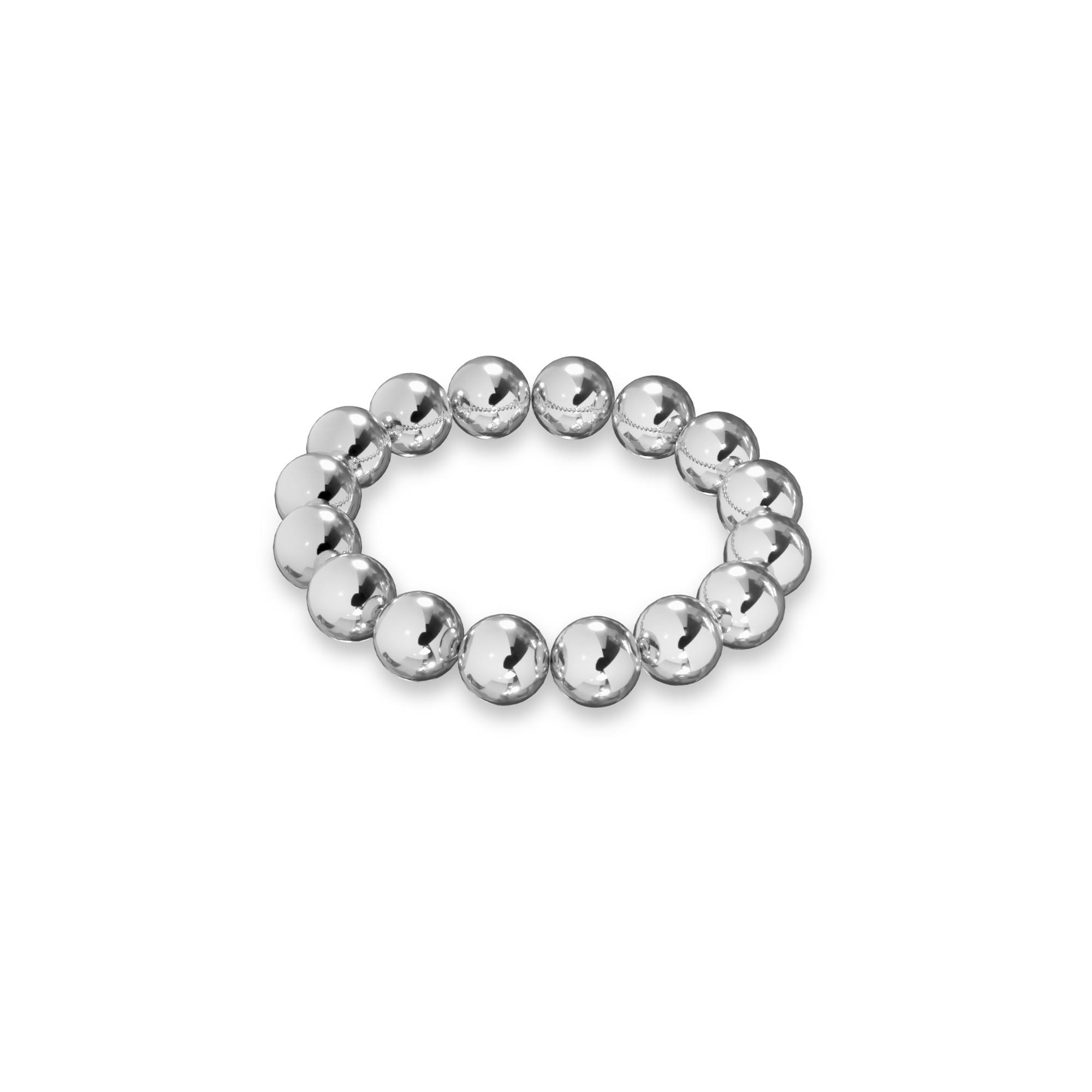 Flexible balls ring sterling silver 925