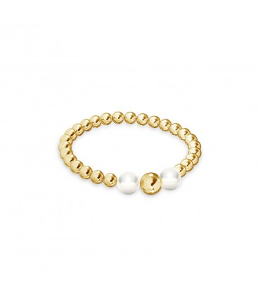 Flexibel ball ring, silber 925