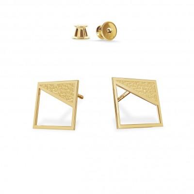 Squares geometric earrings, sterling silver 925