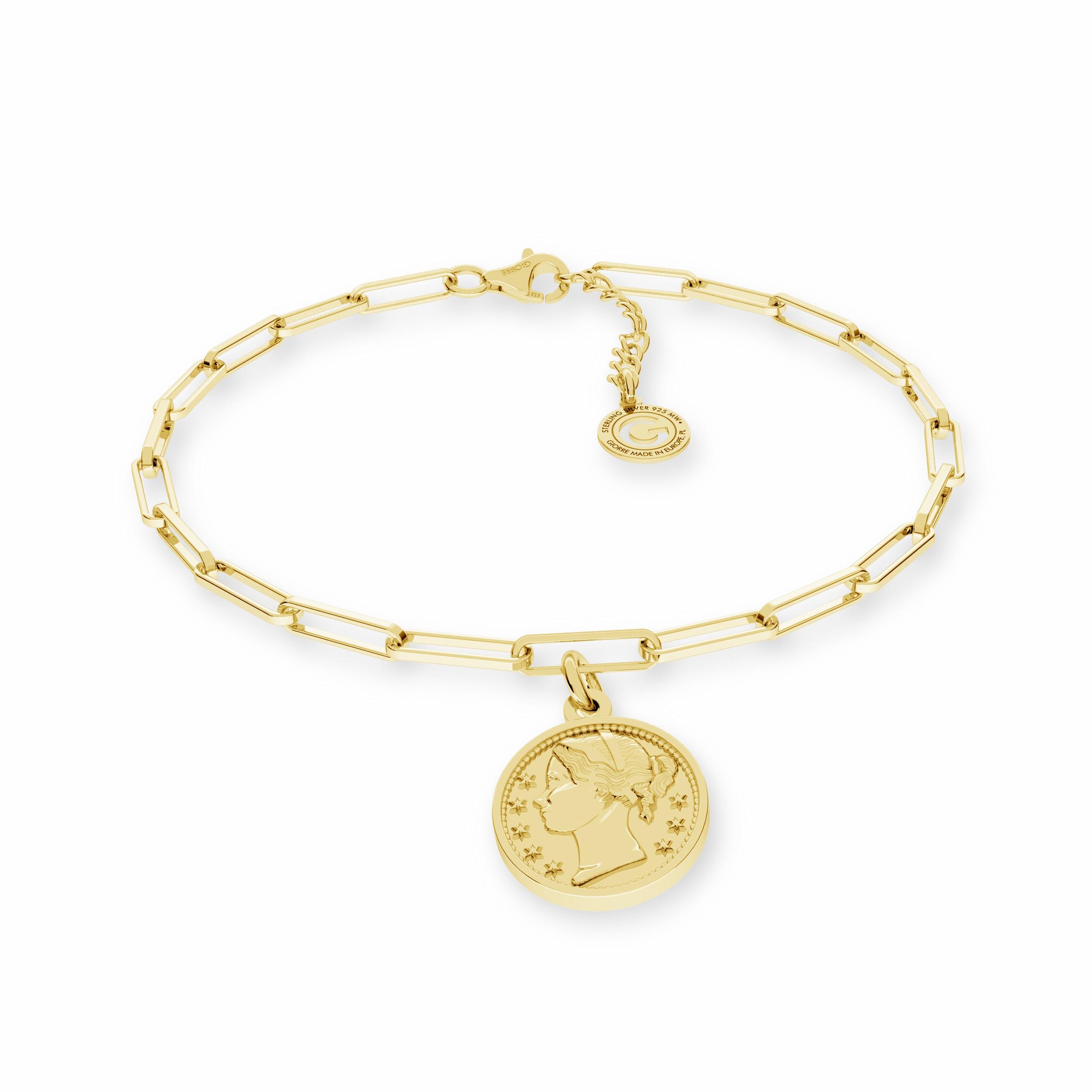 Coin bracelet silver 925