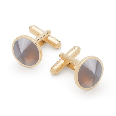 Cufflinks with natural stones, sterling silver 925