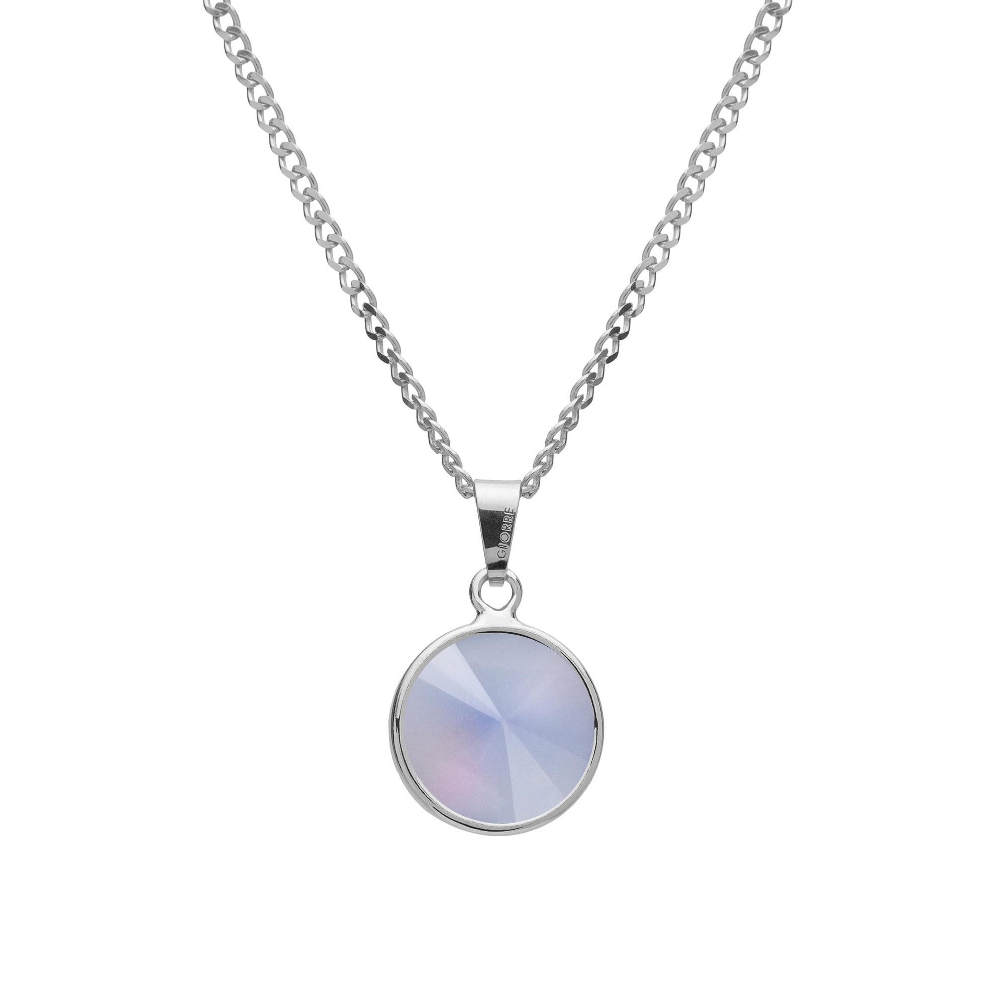 Srebrny naszyjnik z naturalnym kamieniem - kwarc biały srebro 925