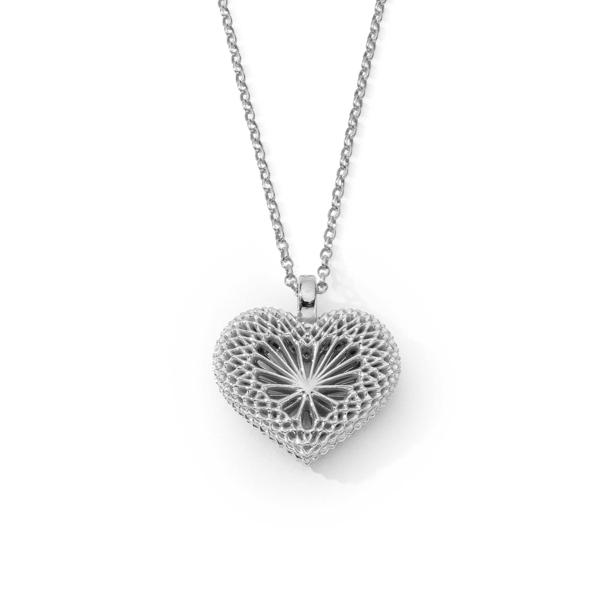 Naszyjnik serce ażurowe, srebro 925
