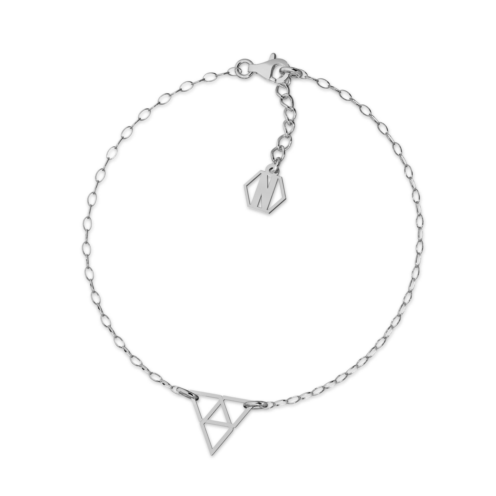 Srebrna bransoletka trójkąt srebro 925, Nikki Lund