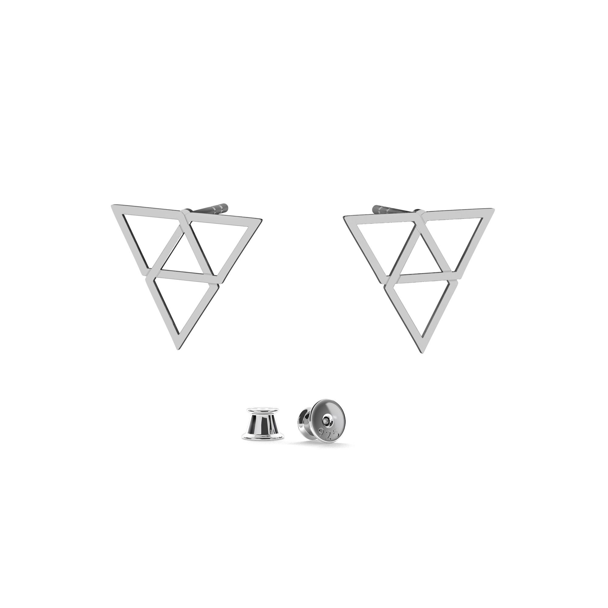 Kolczyki trójkąty srebro 925, Nikki Lund