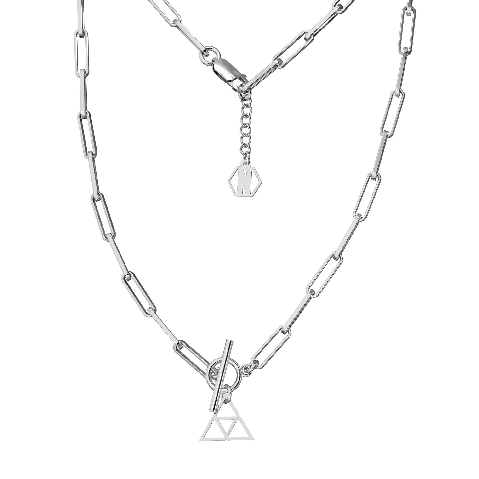 Srebrny choker z trójkątem srebro 925, Nikki Lund