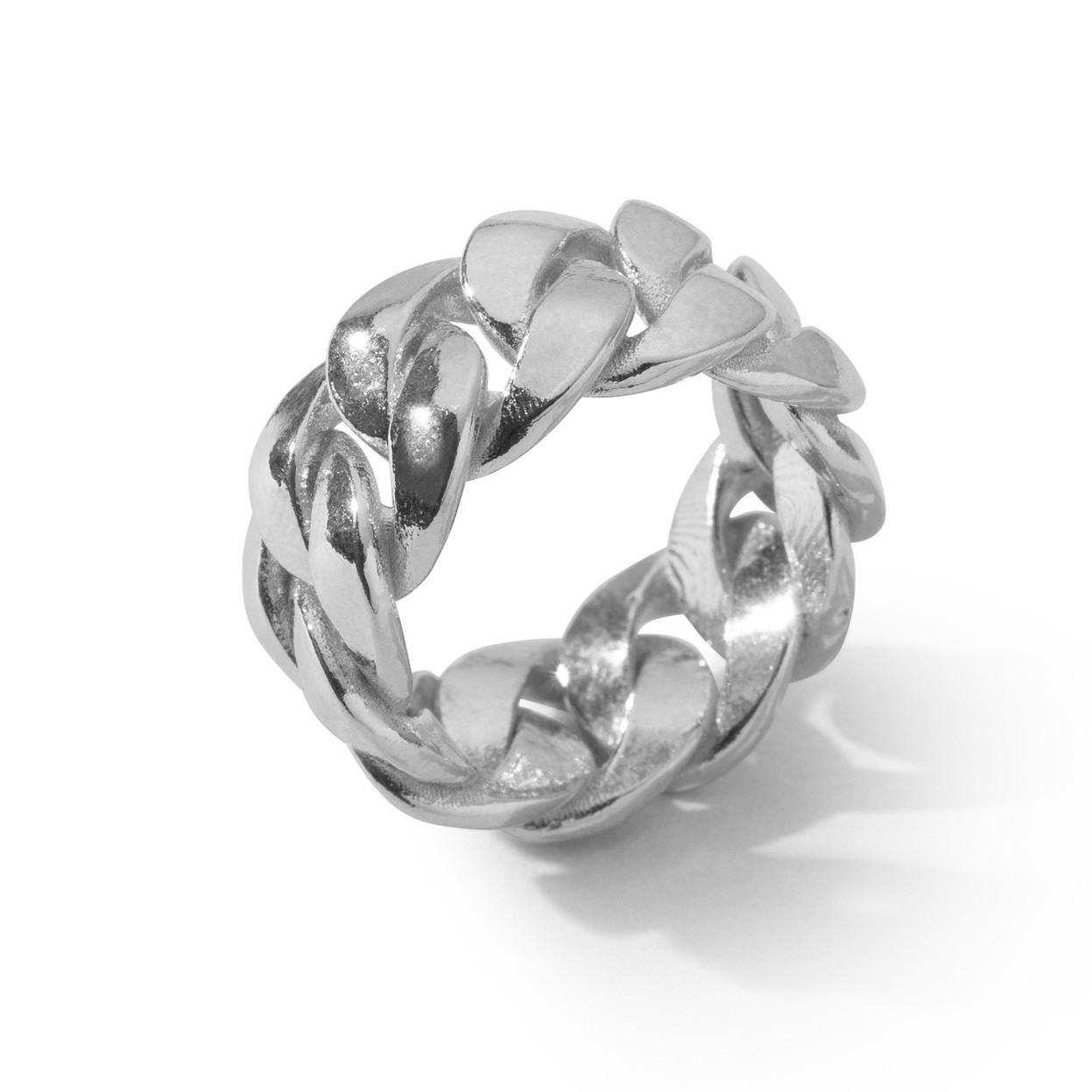 Szeroki pierścionek splot pancerka, srebro 925