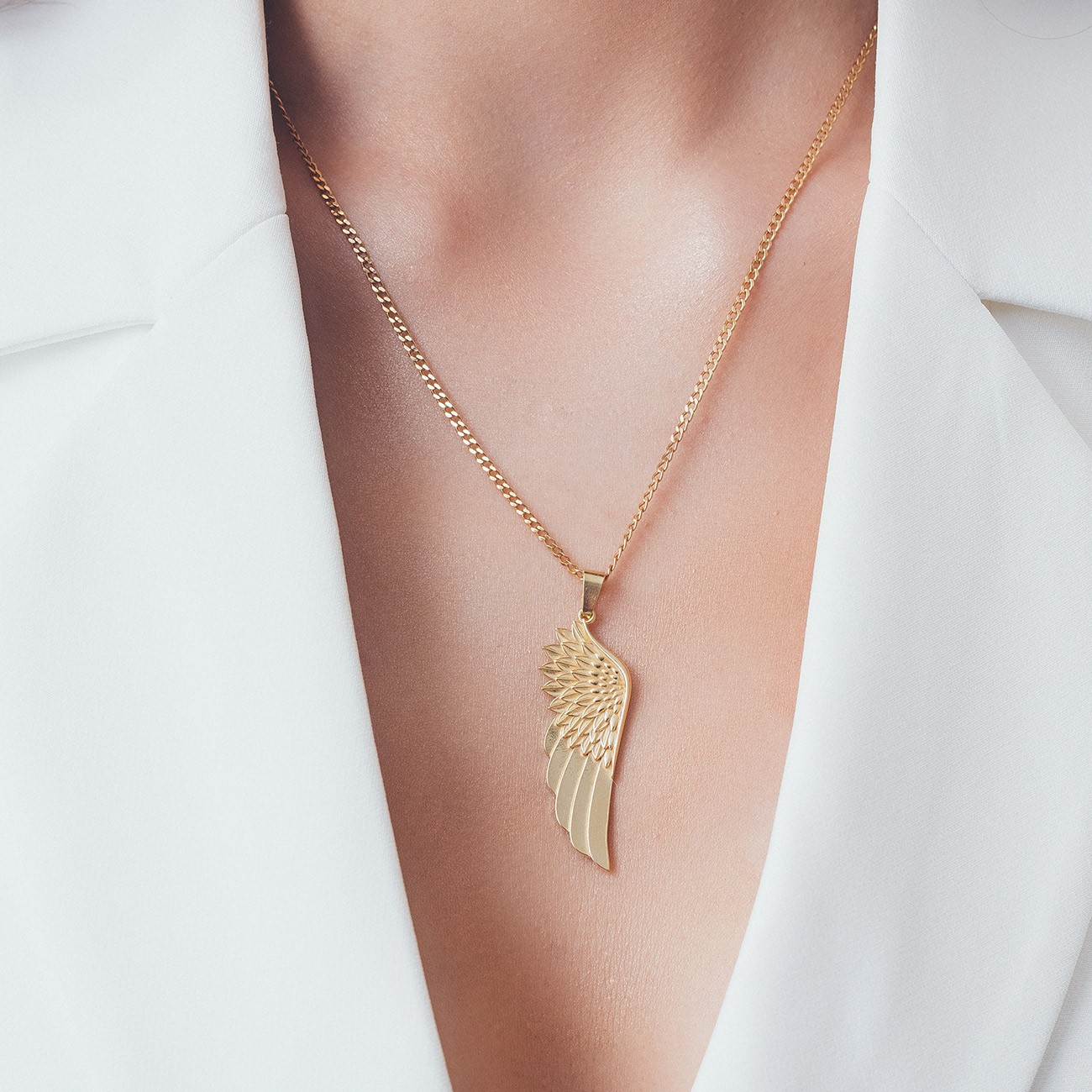 Naszyjnik skrzydło, srebro 925