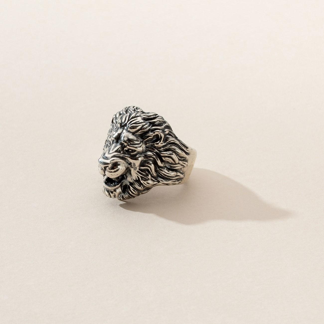 Sygnet lew, srebro 925