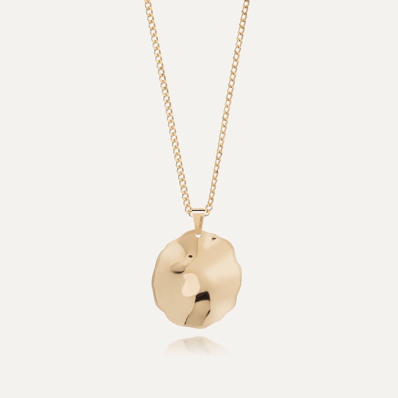 Srebrny naszyjnik z blaszką gniecioną, srebro 925