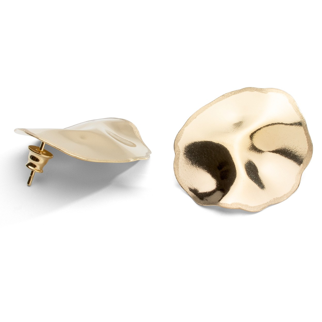 Wavy earrings sterling silver 925