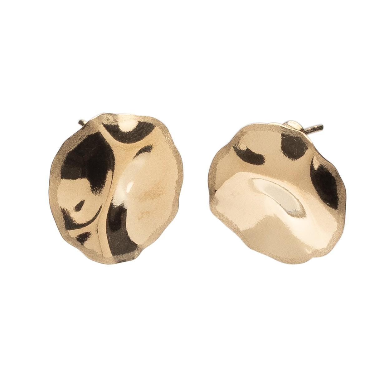 Small wavy earrings sterling silver 925