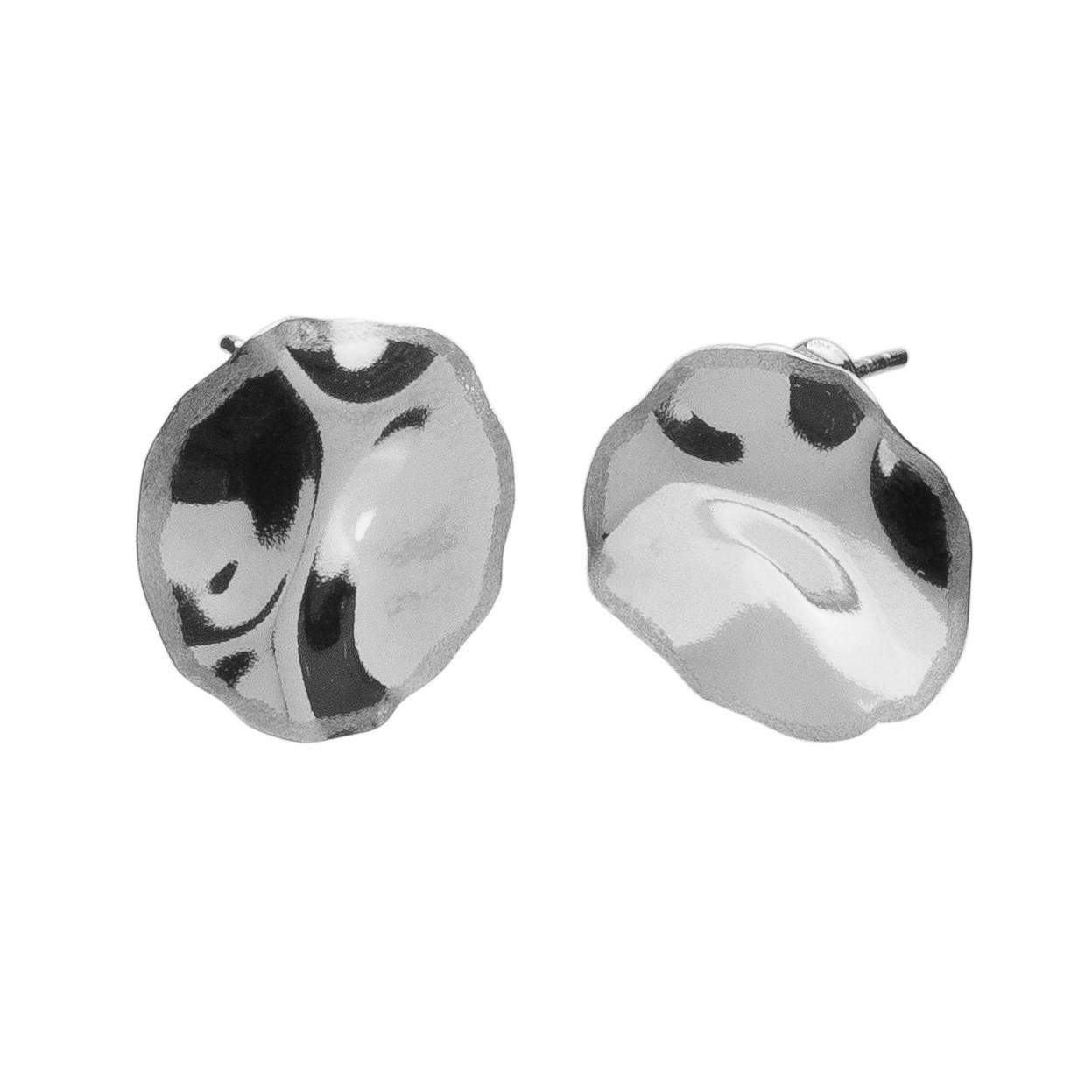 Delikatne kolczyki z gniecionej blachy srebro 925