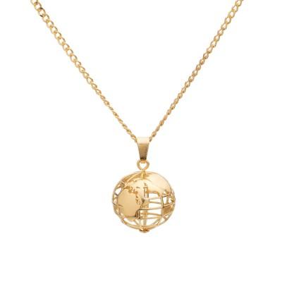 Naszyjnik duża planeta ziemia, srebro 925