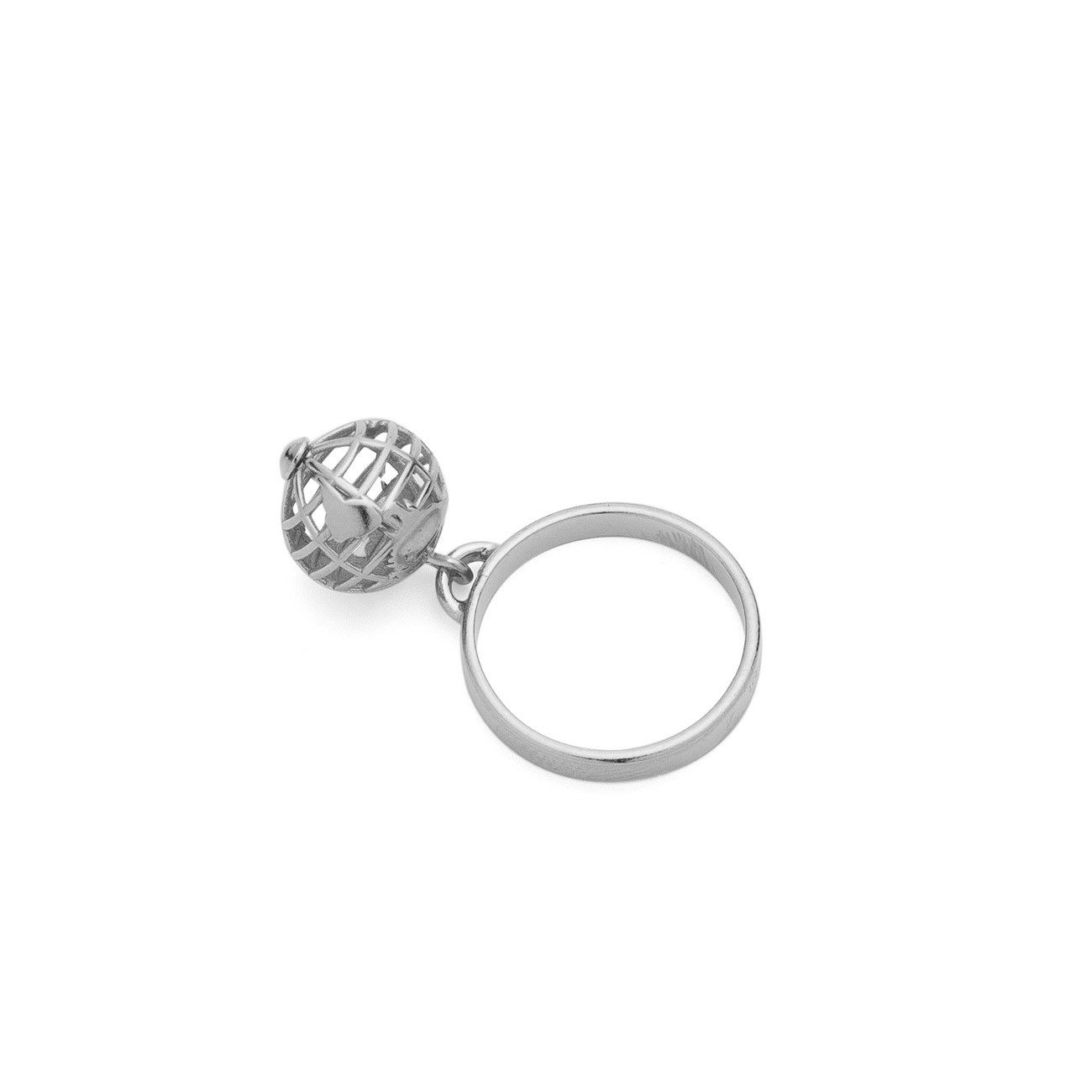 Planet earth ring, sterling silver 925