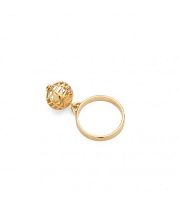 Pianeta Terra ring, argento 925