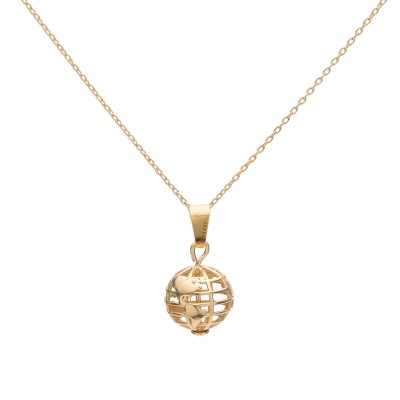 Planet earth necklace, Silver 925
