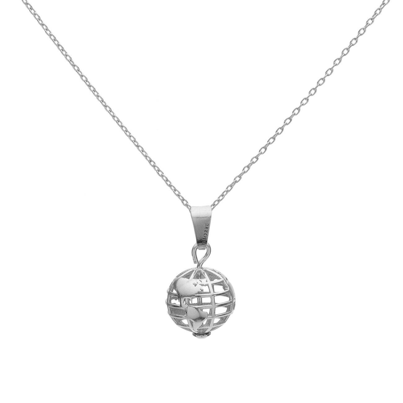 Srebrny naszyjnik planeta ziemia, srebro 925