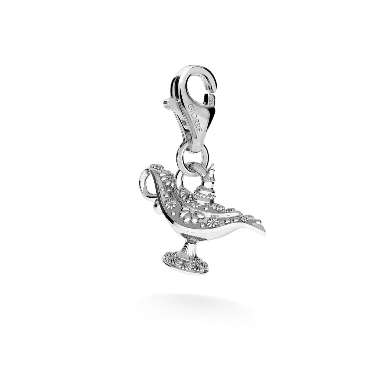 CHARM 137, ALLADIN'S LAMP, STERLING SILVER (925) RHODIUM OR GOLD PLATED