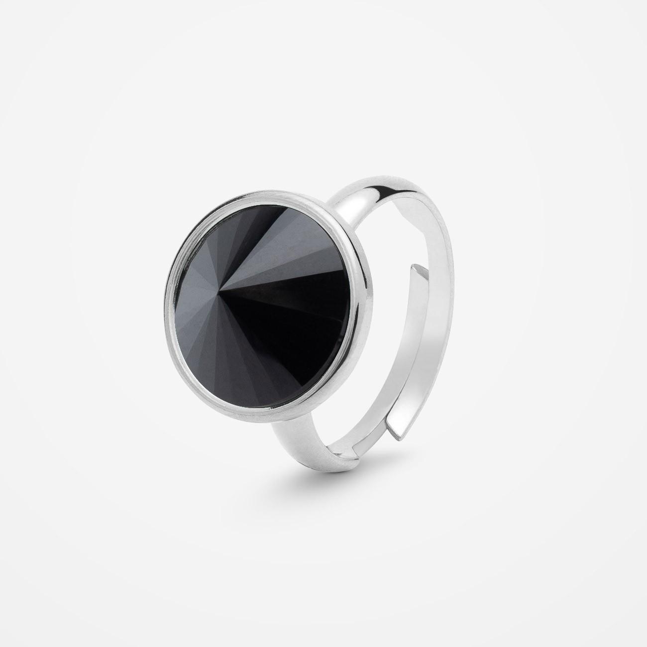Srebrny pierścionek z naturalnym kamieniem, srebro 925