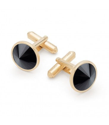Cufflinks with dark natural stones, sterling silver 925