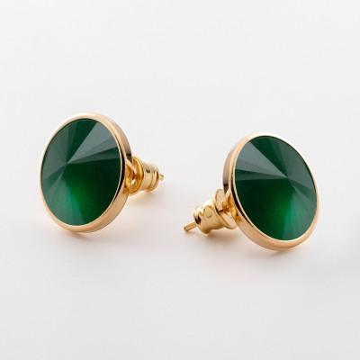 Ohrringe mit natur stein, silber 925