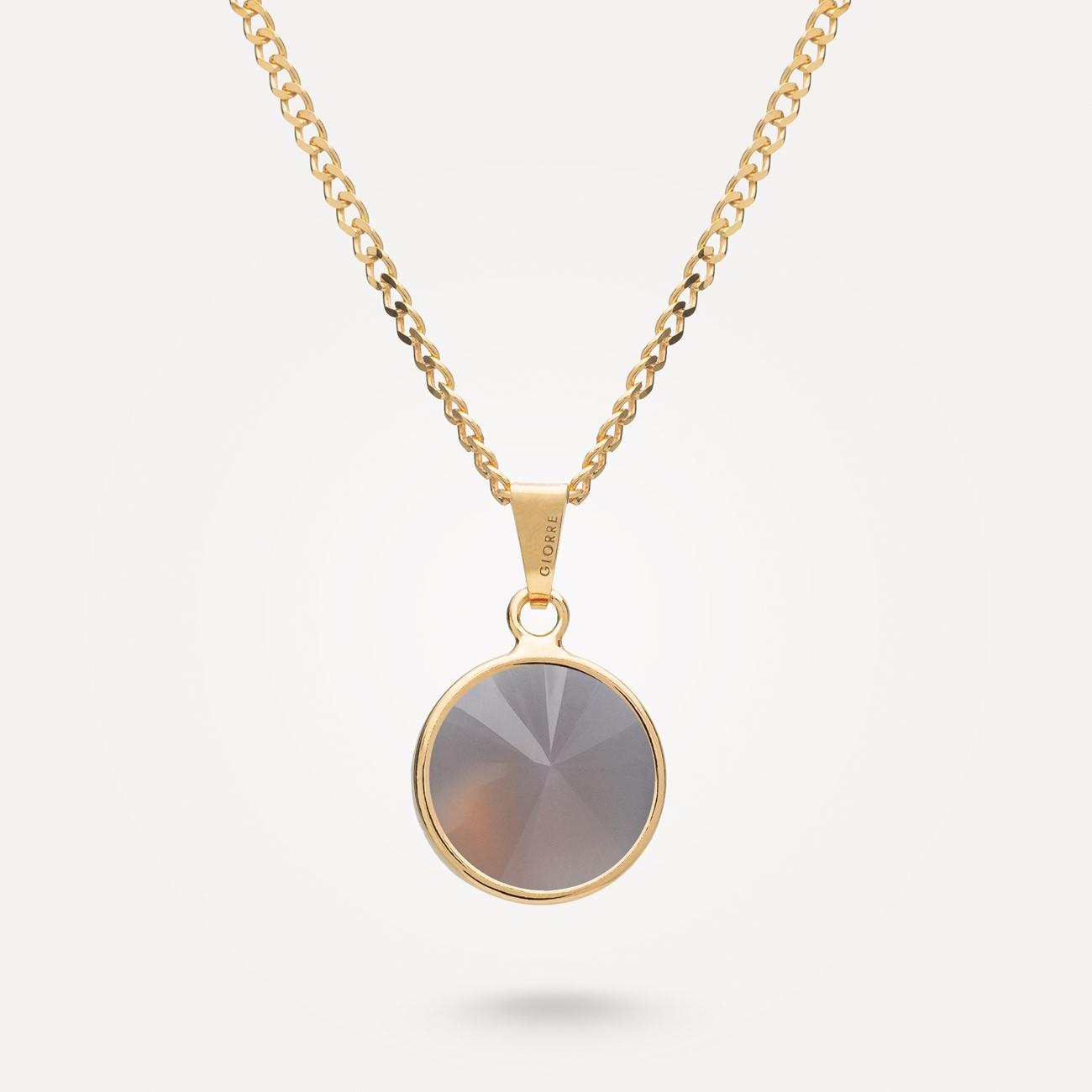Srebrny naszyjnik z naturalnym kwarcem, srebro 925