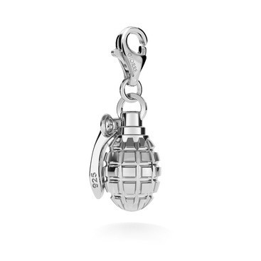 CHARM 141, CHARM, STERLING SILVER (925) RHODIUM OR GOLD PLATED