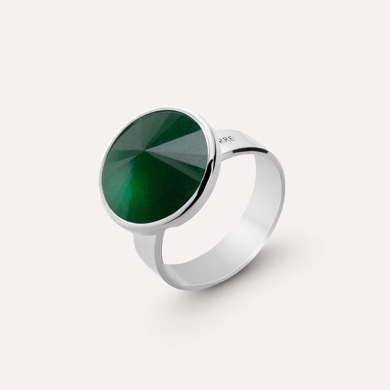 Srebrny pierścionek kamień naturalny jadeit, srebro 925