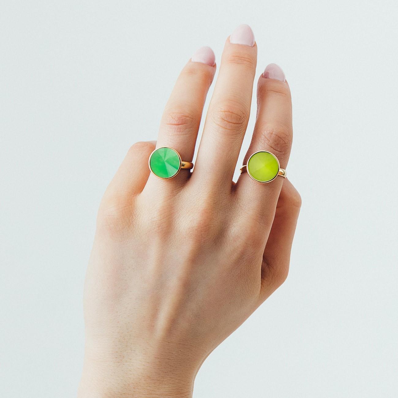 Srebrny pierścionek kamień naturalny chryzopraz, srebro 925