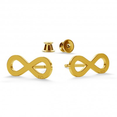 INFINITY EARRINGS, STERLING SILVER (925) RHODIUM OR GOLD PLATED