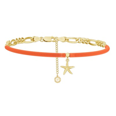 Colorful clay choker with starfish, MON DÉFI, Silver 925