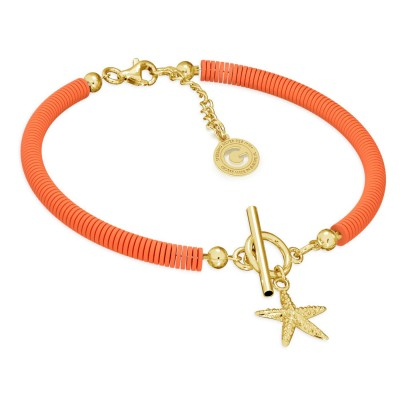 Colorful clay bracelet with starfish, MON DÉFI, Silver 925