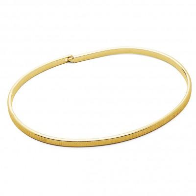 Unisex bangle bracelet VARRANI, brushed sterling silver 925