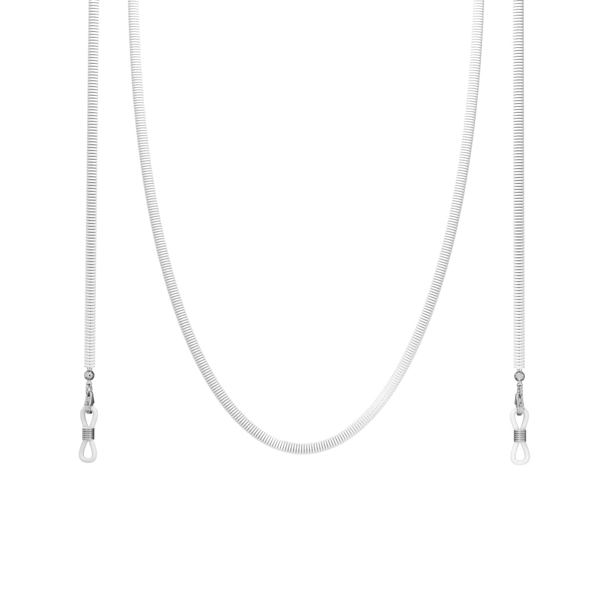Łańcuszkowy choker z kolorową glinką, MON DÉFI, srebro 925