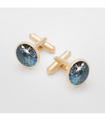 Rivoli cufflinks, Gavbari crystals