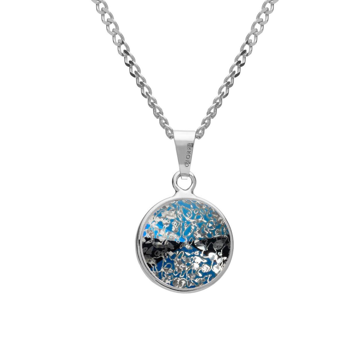 Srebrny naszyjnik z kryształem Gavbari, srebro 925