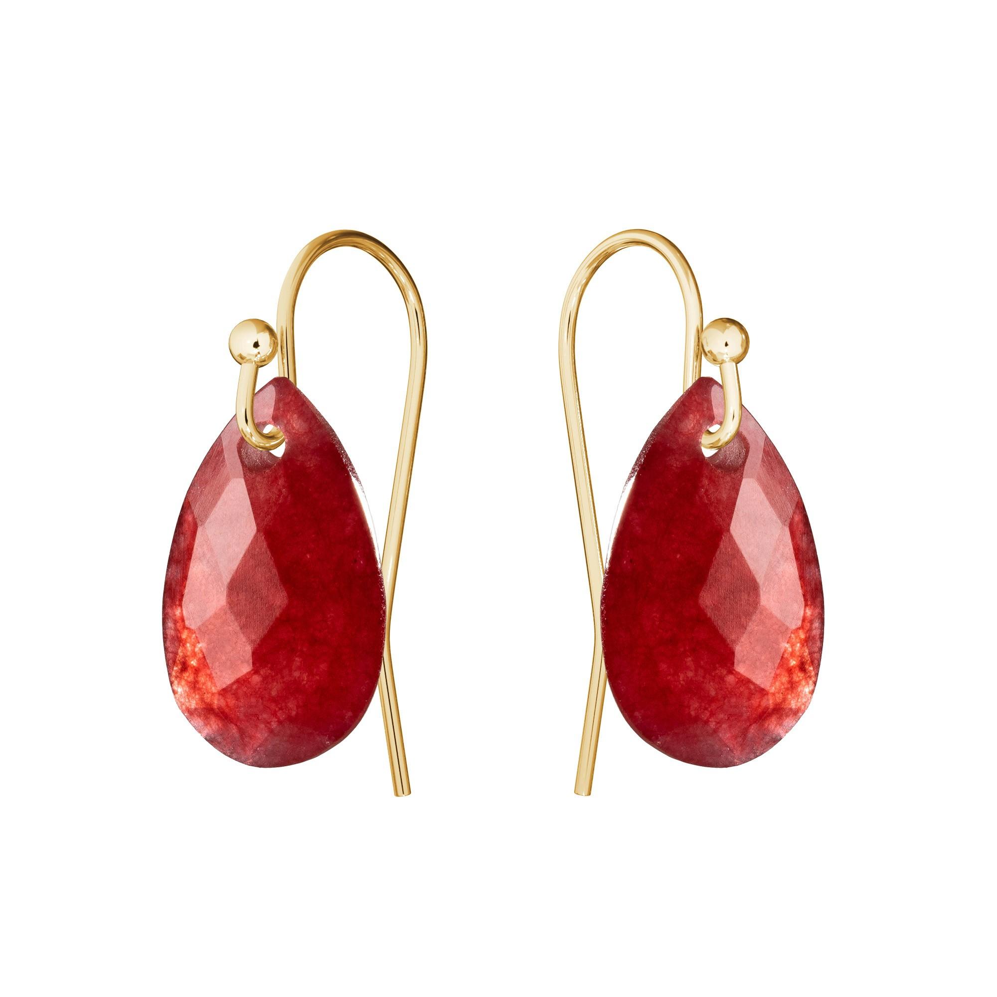 Delikatne kolczyki z naturalnym kamieniem Gavbari, złoto 585