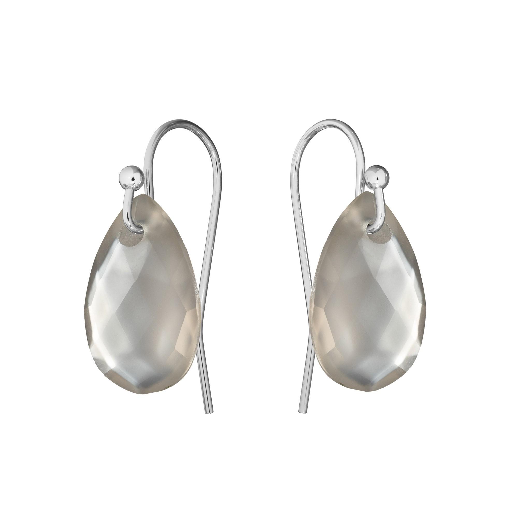 Delikatne kolczyki z naturalnym kamieniem Gavbari, srebro 925