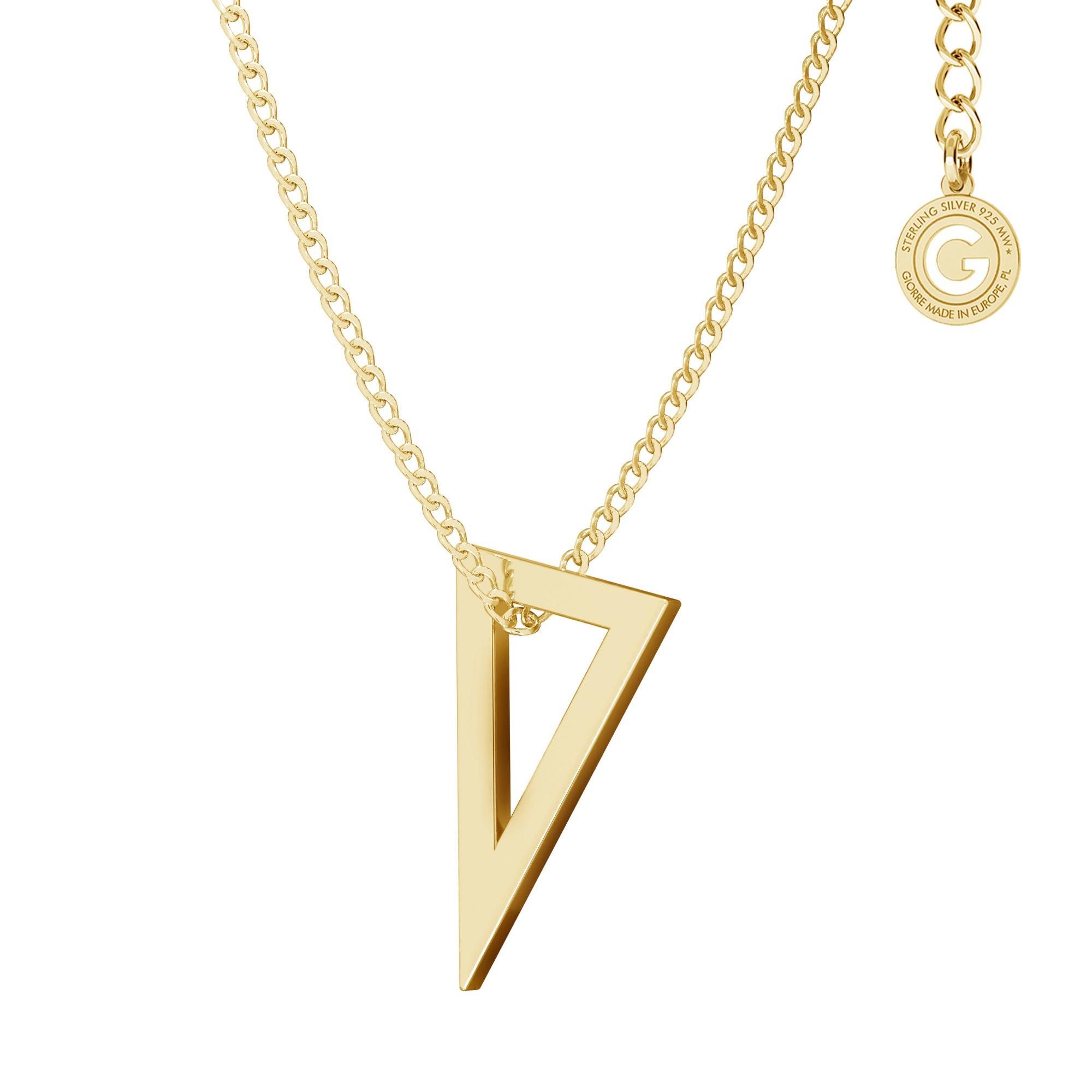 Naszyjnik figura geometryczna trójkąt, srebro 925